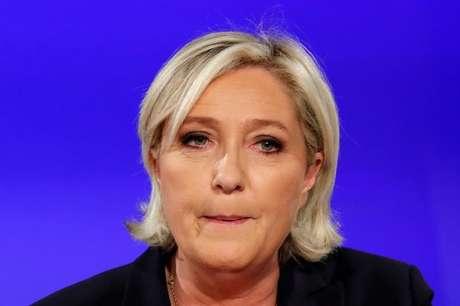 Líder de extrema-direita da França, Marine Le Pen, em Paris