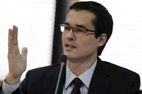 Procurador da República Deltan Dallagnol durante evento em Brasília 20/03/2015 REUTERS/Ueslei Marcelino