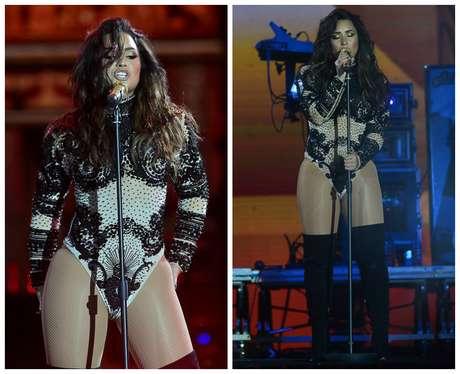 Demi LOvato no Festival Villa Mix, em Goiânia (Fotos: Francisco Cepeda/AgNews)