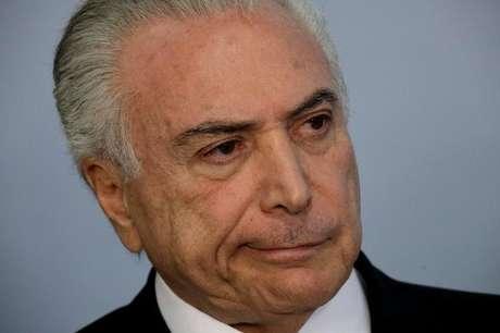 Presidente Michel Temer durante pronunciamento no Palácio do Planalto, em Brasília 27/06/2017 REUTERS/Ueslei Marcelino