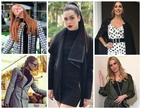 Famosas mostram vários tipos de casacos (Fotos: Reprodução/Instagram)