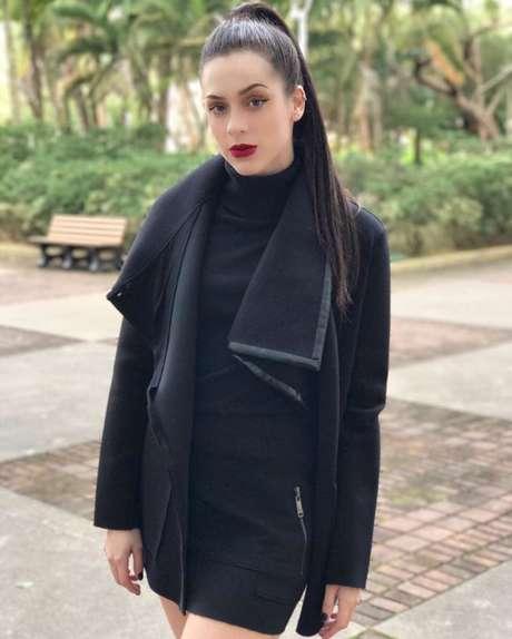 Sophia Abrahão vestida para apresentar o Vídeo Show (Foto: Reprodução/AgNews)