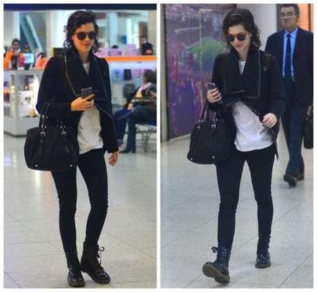 Sophia Abrahão no aeroporto (Fotos: William Oda/AgNews)