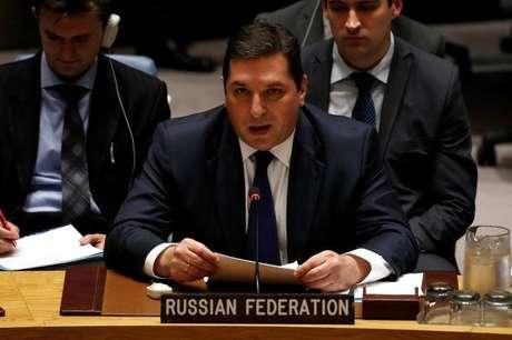 Vice-embaixador russo na ONU, Vladimir Safronkov. 05/07/2017 REUTERS/Mike Segar