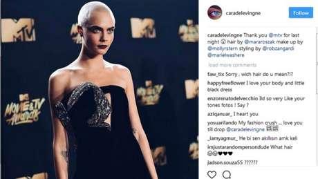 Cara Delevingne se tonou uma musa da moda e do cinema. E também cobra para publicar conteúdo no Instagram