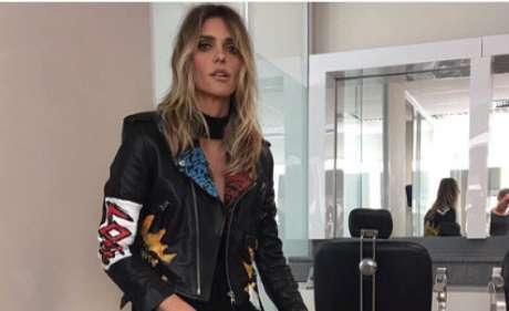 Fernanda Lima com jaqueta preta grafitada (Foto: Reprodução/Instagram/Instagram/@fernandalimaoficial