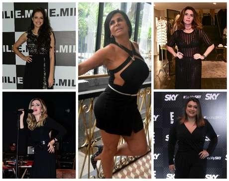 Famosas em pretos sensuais (Fotos: AgNews)