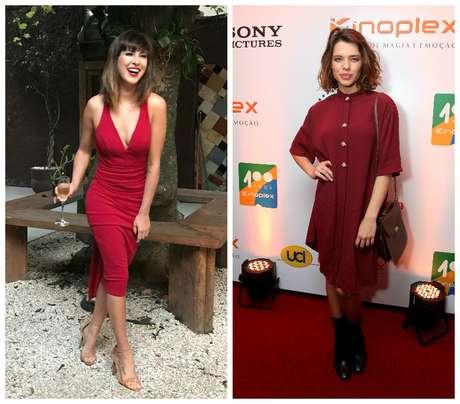 Fernanda Paes Leme e Bruna Linzmeyer em vermelho (Fotos: Reprodução/Instagram?Marcello Sá Barretto/AgNews)