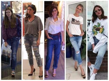 Famosas vestem calça com barra dobrada (Fotos: AgNews - Instagram/Reprodução)