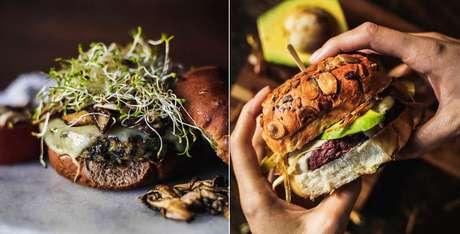 Cardápio traz mais de 5 blends diferentes para os hambúrgueres -  todos sem carne
