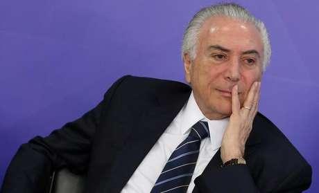 Presidente Michel Temer durante cerimônia no Palácio do Planalto, em Brasília 06/07/2017 REUTERS/Adriano Machado