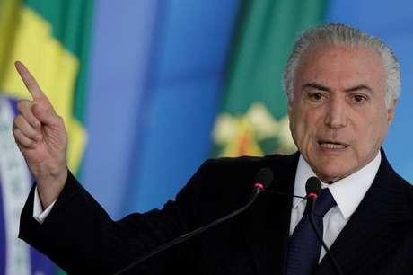 Presidente Michel Temer durante cerimônia no Palácio do Planalto, em Brasília 26/06/2017 REUTERS/Ueslei Marcelino