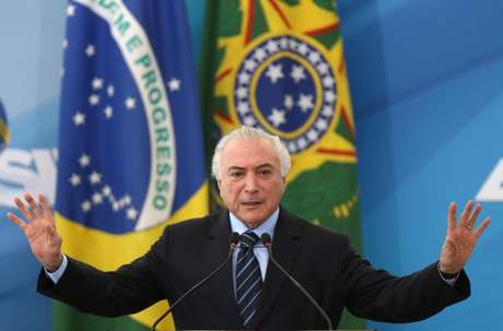 Temer em cerimônia no Planalto  13/7/2017 REUTERS/Adriano Machado