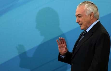Presidente Michel Temer deixa cerimônia no Palácio do Planalto, em Brasília 13/07/2017 REUTERS/Adriano Machado