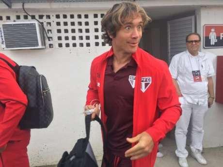 Lugano não defende o São Paulo desde a partida contra o Flamengo, há duas rodadas (Foto: João Pedro Granette)