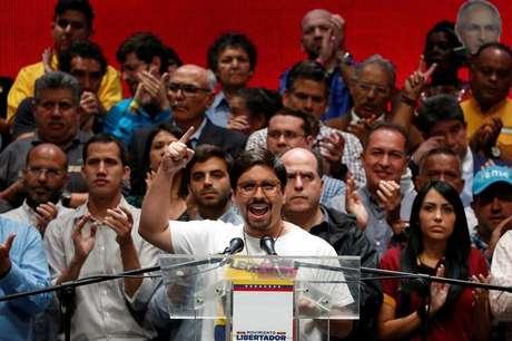 Oposicionista Freddy Guevara concede entrevista em Caracas  17/7/2017    REUTERS/Carlos Garcia Rawlins