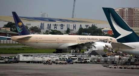 Avião da Saudi Arabian Airlines na cidade de Pasay, na região de Manila  20/9/2016   REUTERS/Erik De Castro