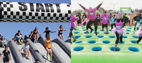 Para a família toda: circuito de obstáculos infláveis é opção divertida de passeio!