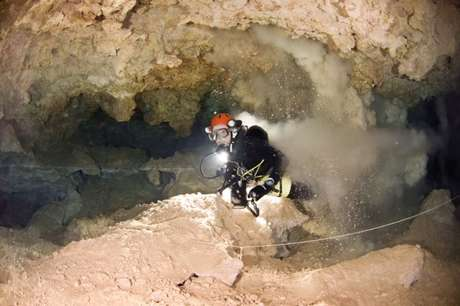É fácil dispersar sedimentos nas cavernas submarinas de Maiorca