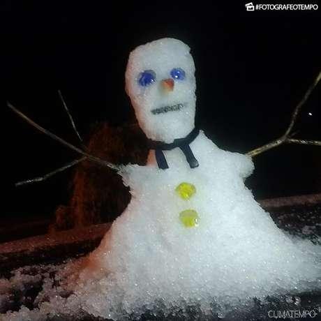 Neve é registrada em Irani, no Meio-Oeste de SC — Vídeo