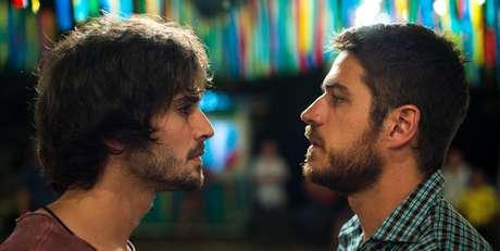 Ruy (Fiuk) e seu adversário Zeca (Marco Pigossi): duelo desigual.
