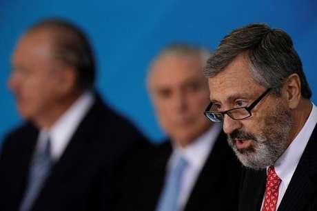 O ministro da Justiça do Brasil, Torquato Jardim, durante cerimônia no Palácio do Planalto, em Brasília 31/05/2017 REUTERS/Ueslei Marcelino