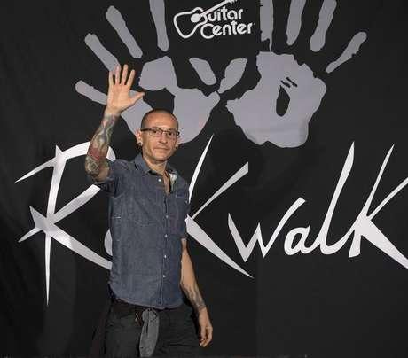 Chester Bennington, vocalista do Linkin Park, em cerimônia em Los Angeles 18/06/2014 REUTERS/Mario Anzuoni
