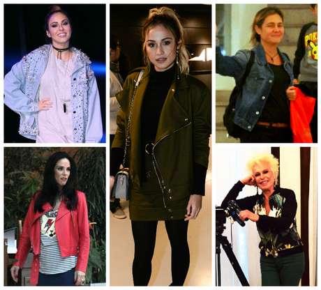 Jaquetas das famosas (Fotos: AgNews/Divulgação)