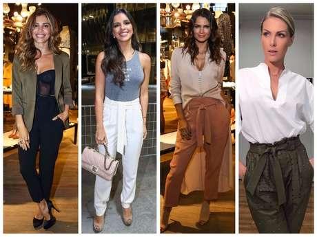Famosas vestem calça clochard (Fotos: AgNews - Instagram/Reprodução)