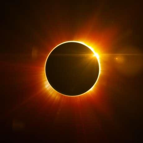 Imagem de eclipse solar