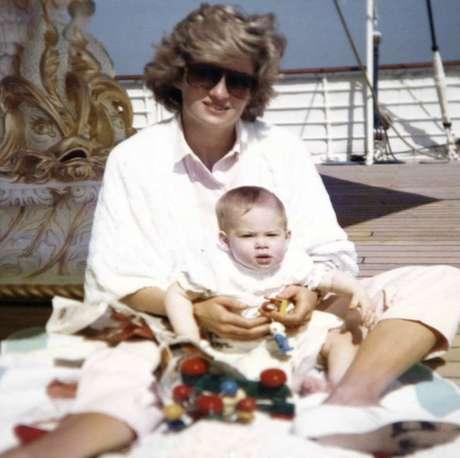 Diana e o príncipe Harry