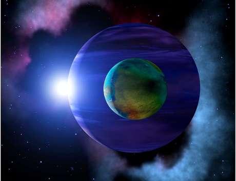Ilustração: onde há exoplanetas, possivelmente há exoluas