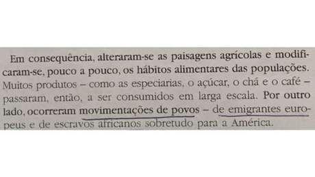 """Livro didático português diz que escravos africanos """"movimentaram-se para outros continentes"""""""