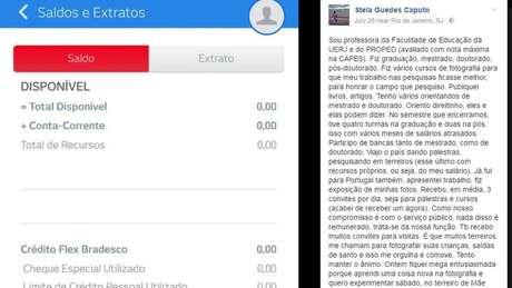 Stela Guedes Caputo diz que está devendo R$ 20 mil, além de prestações de seu apartamento