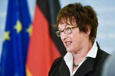 Ministra da Economia da Alemanha, Brigitte Zypries, durante entrevista com a Reuters, em Berlim 16/06/2017 REUTERS/Stefanie Loos