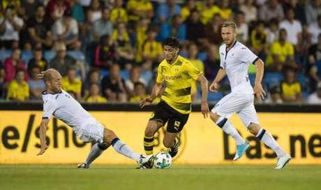 Dortmund não conseguiu furar a retranca da Atalanta (Foto: Reprodução / Twitter)