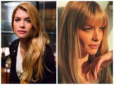 Antes e depois da Alinne Moraes (Fotos: Tata Barreto/TV Globo/Divulgação - Instagram/Reprodução)