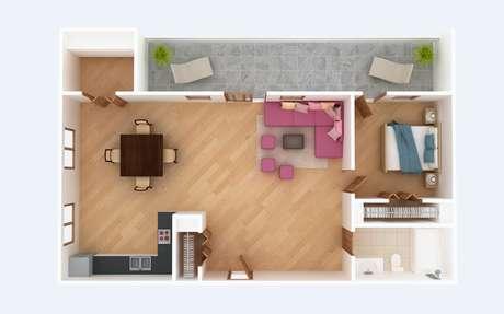 A energia circula com mais facilidade em cômodos com formato quadrado