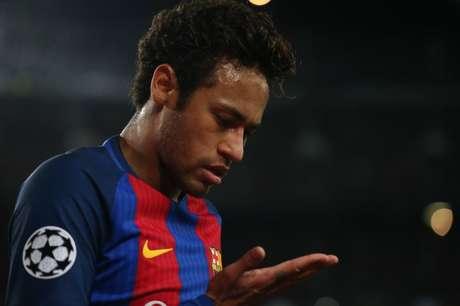 Atacante Neymar em partida do Barcelona 19/4/17 REUTERS/Albert Gea