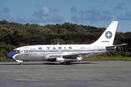 Imagem de avião da Varig