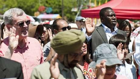 Cerimônia de recepção de novos cidadãos canadenses