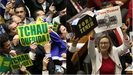 Votação do impeachment de Dilma e da denúncia de Temer