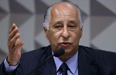 Del Nero durante depoimento em CPI no Senado  16/12/2015    REUTERS/Ueslei Marcelino