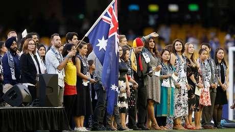 Uma cerimônia de cidadania que aconteceu em Melbourne em janeiro
