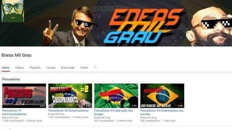 No canal Enéas Mil Grau no YouTube, vídeo expõe as 'mitadas mais fodas' do cardiologista