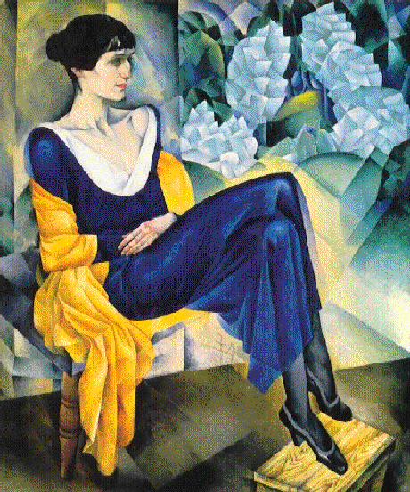 A. Akhmatova, musa das artes de S.Petersburgo