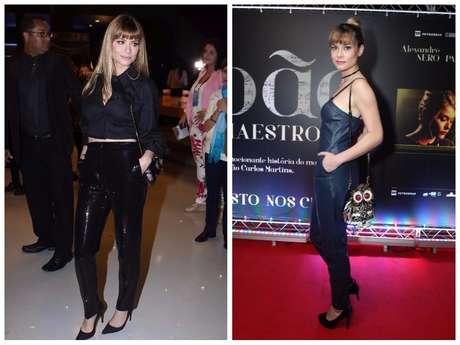 2 looks monocromáticos da Alinne Moraes (Fotos: Thiago Duran/Marcello Sá Barretto/AgNews)