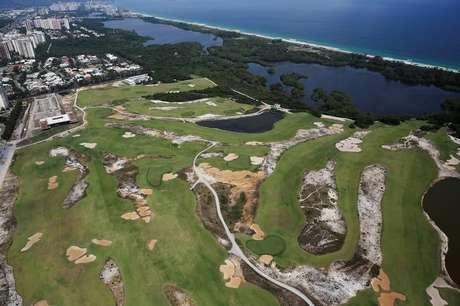 Vista aérea do campo de golfe usado na Olimpíada Rio 2016 15/01/2017 REUTERS/Nacho Doce
