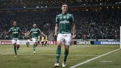 Moisés foi o autor do gol do Palmeiras contra o Barcelona (ECU), na quarta-feira (Foto: Miguel Schincariol)