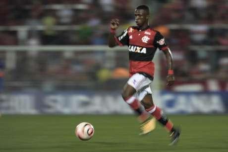 Vinicius Jr fez seu primeiro gol pelos profissionais contra o Palestino (Foto: Jorge Rodrigues/Eleven)